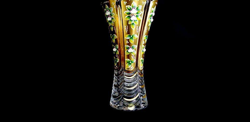 Lọ hoa pha lê mạ vàng đắp nổi 89001/99001/300 AU MAT