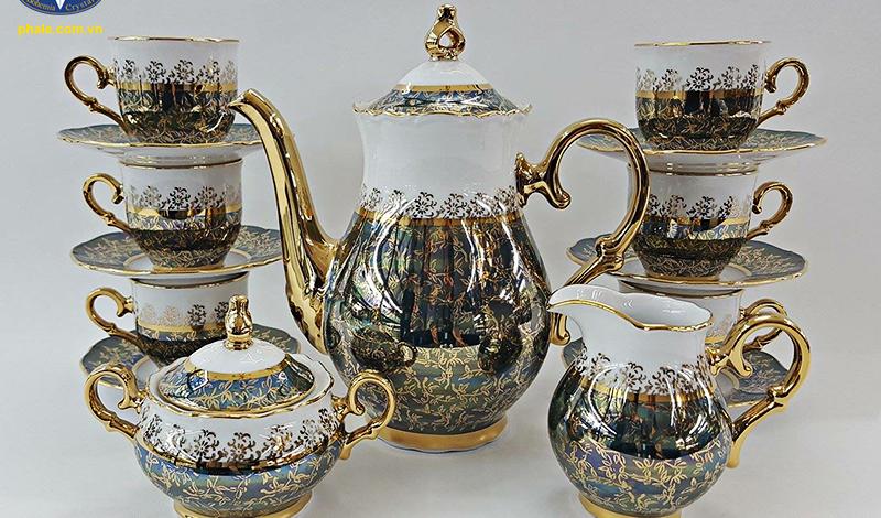 Bộ trà sứ OF MS LZ 111 từ Tiệp Khắc