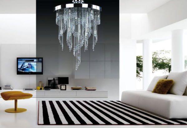 Cách chọn đèn chùm pha lê phòng khách hiện đại siêu chuẩn