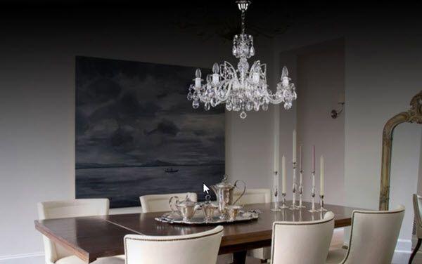 Cách lựa chọn mẫu đèn pha lê thả bàn ăn cho chung cư hiện đại