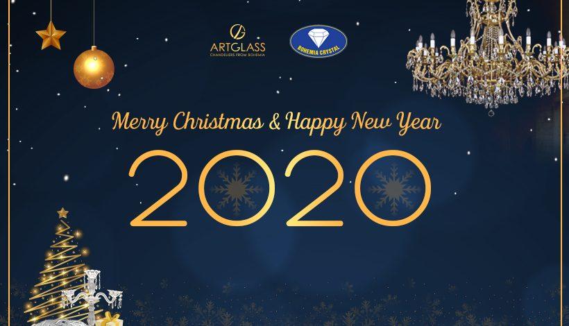 Đèn pha lê Tiệp Chúc mừng Giáng Sinh và Tết Canh Tý 2020