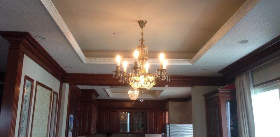 Dự án lắp đặt đèn pha lê cho phòng khách nhà chú Hiển