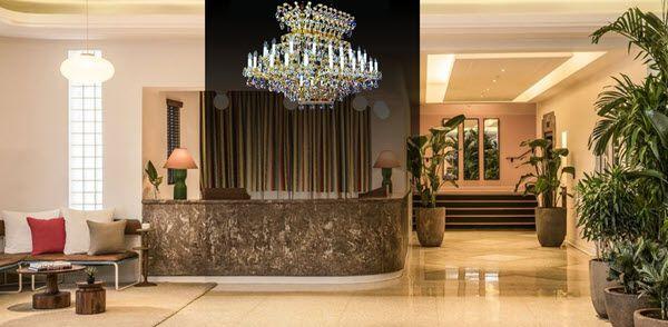 Lưu ý khi lựa chọn đèn chùm pha lê cho sảnh khách sạn